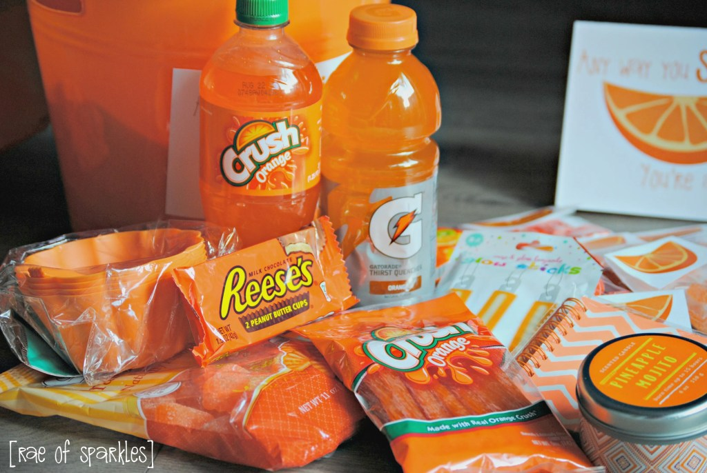 Orange Gift Basket Ideas