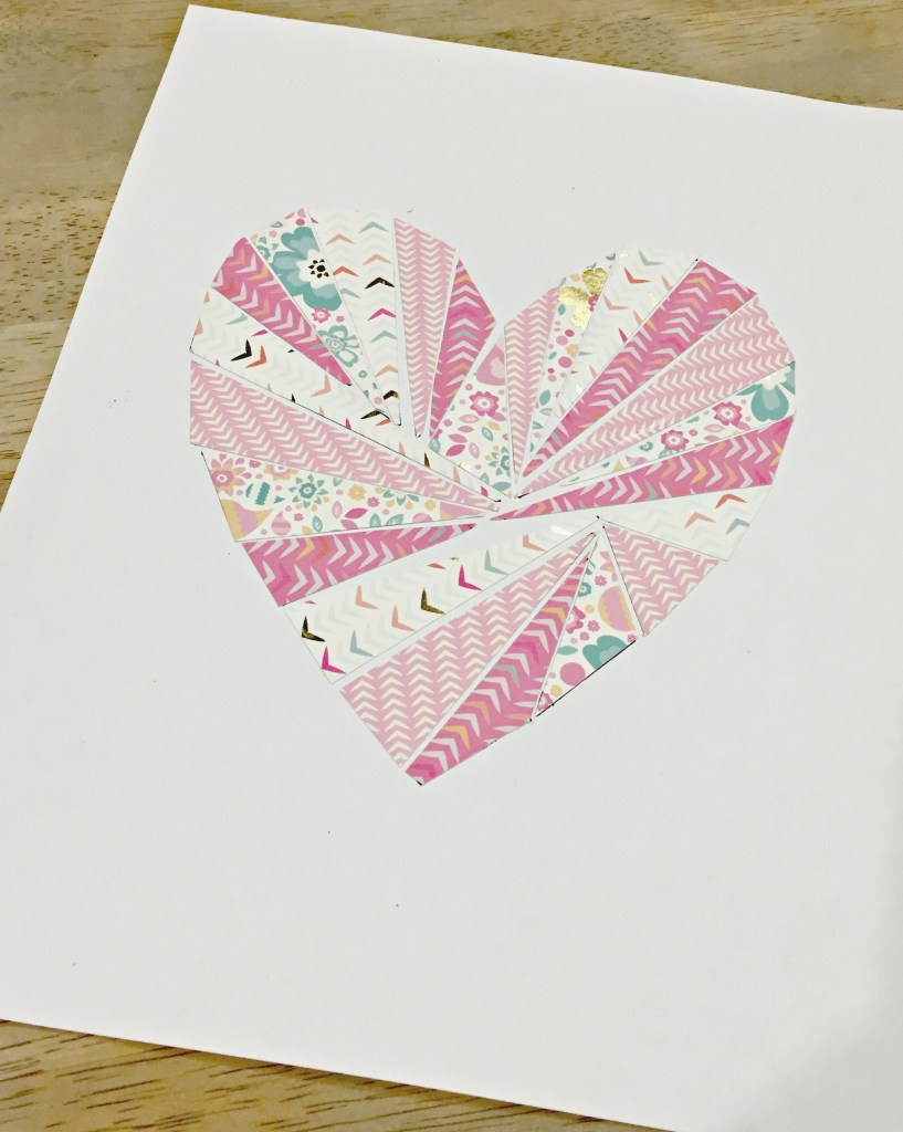 DIY Geometric Heart Print