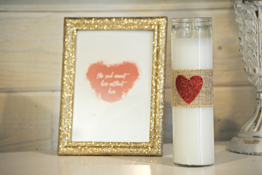 DIY Valentine's Day Pillar Candles