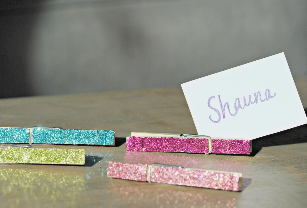 DIY Sparkle Clothespins