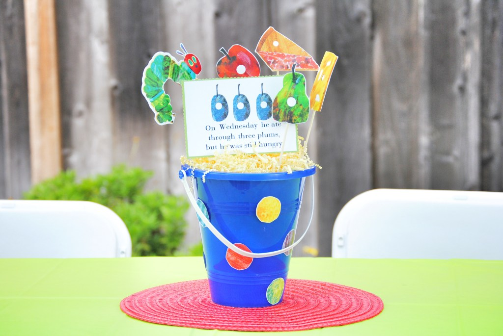 DIY Hungry Caterpillar Table Centerpieces