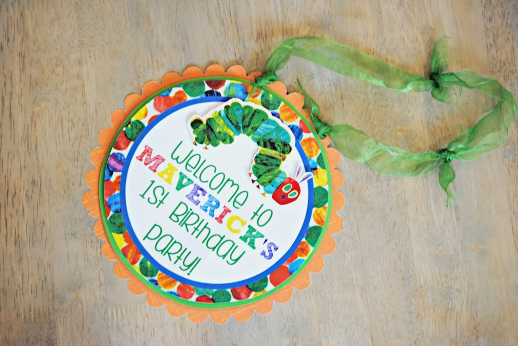 Hungry Caterpillar Birthday Door Sign