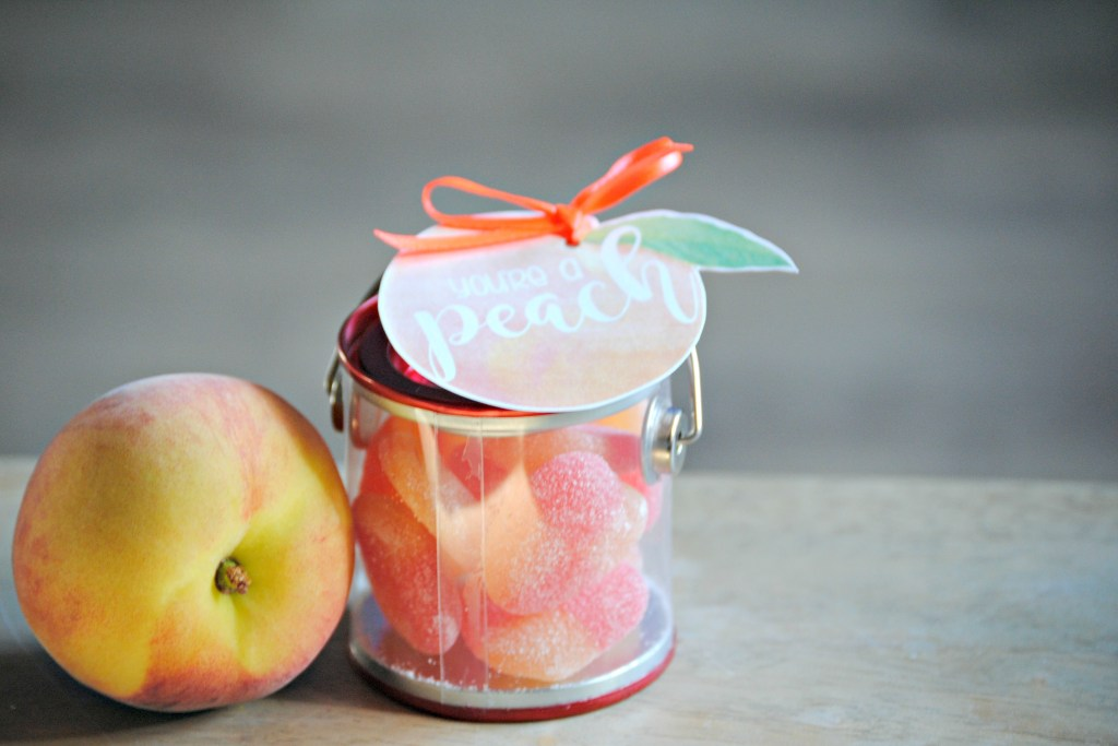 You're a Peach Thank You Gift Printable Tag