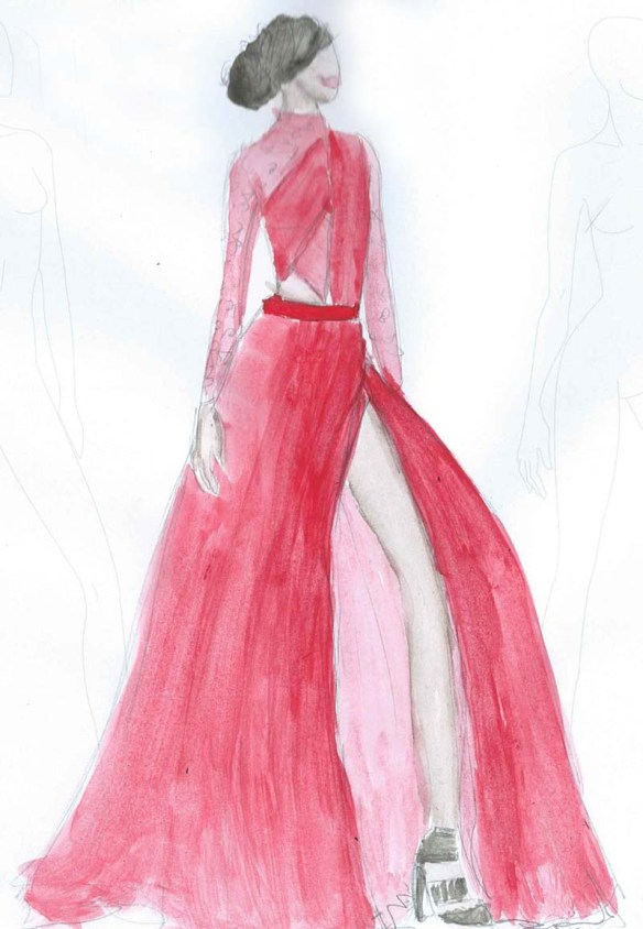 prabal gurung fashion illustration