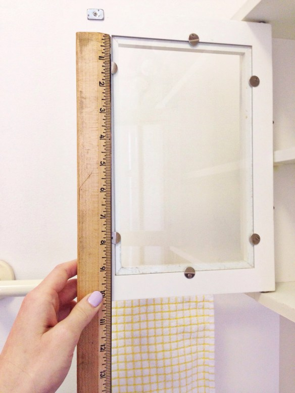 measure your window, decorative paper project