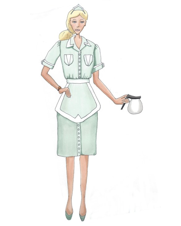 illustration of waitress from Twin Peaks
