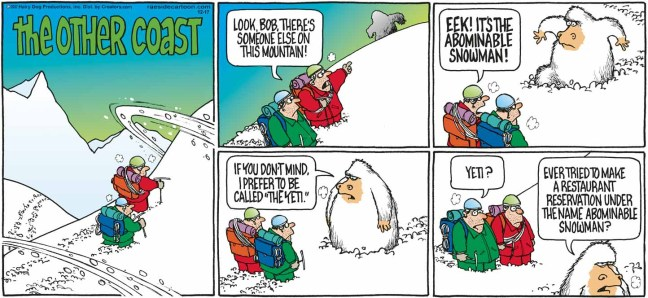 Image result for comics about abominable snowman