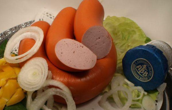 Rheinische Schinkenfleischwurst mit Knoblauch