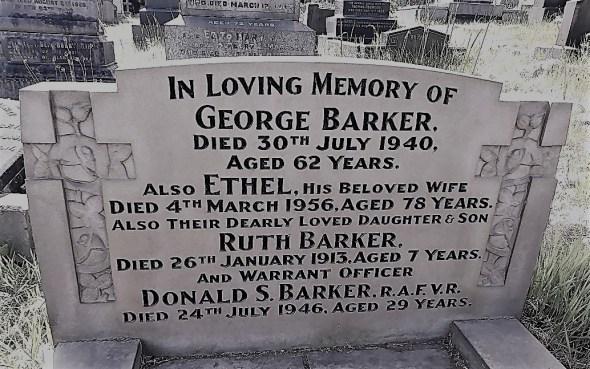 barker gravestone