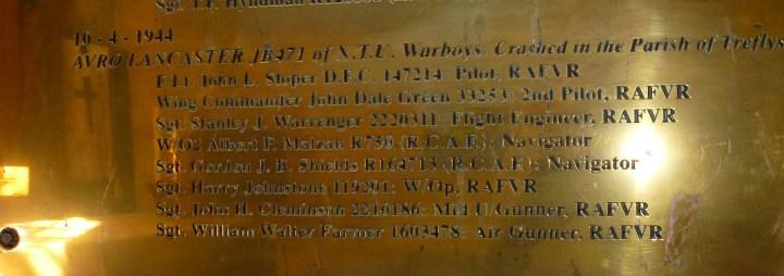 memorial tablet names