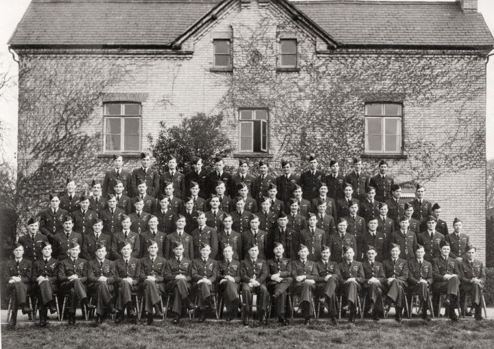 105 Squadron, Bourn, Cambs 1945- 4th row viewer's left hand end - Copy