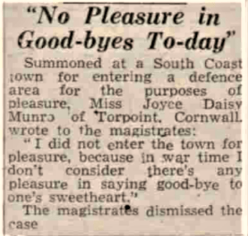 no pleasure in goodbye, manchester evening news, 3-11-43