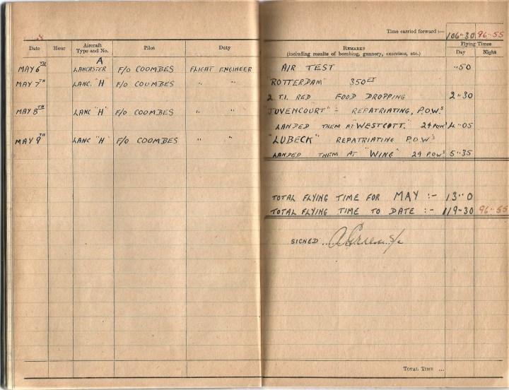 Bill Lapthorn logbook
