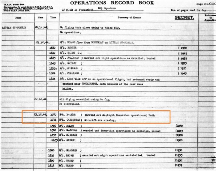 109 Squadron 23 December 1944