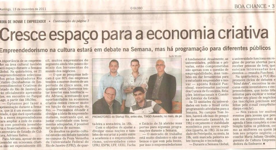 Rafael Carvalho no jornal O Globo