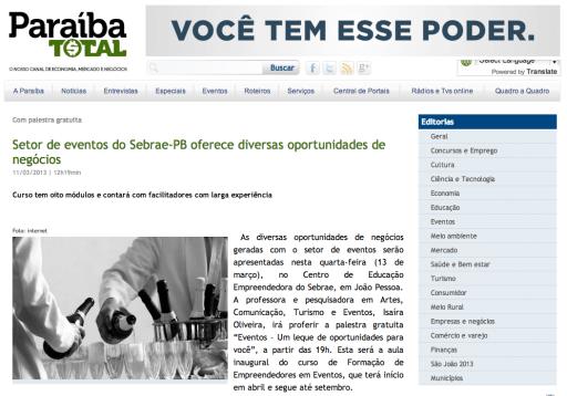 Rafael Carvalho no portal Paraíba Total