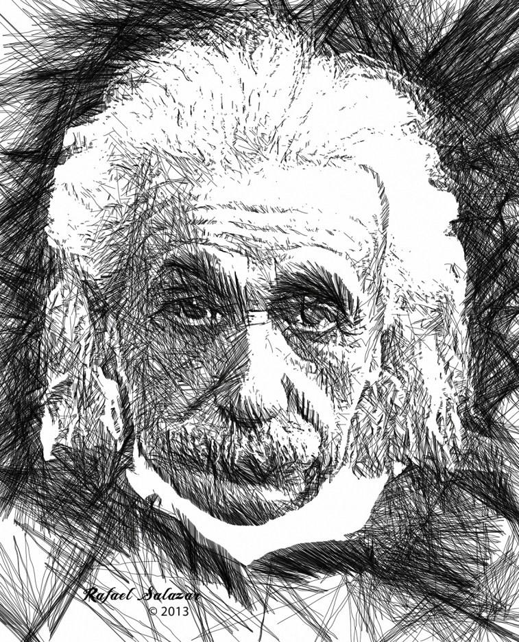 Albert Einstein by Rafael Salazar - Copyright 2013 - All rights reserved