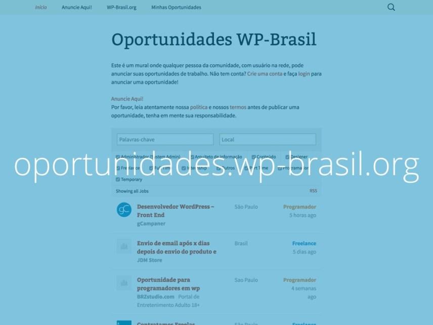 Captura de tela do site oportunidades.wp-brasil.org com o texto oportunidades.wp-brasil.org escrito sobre ela