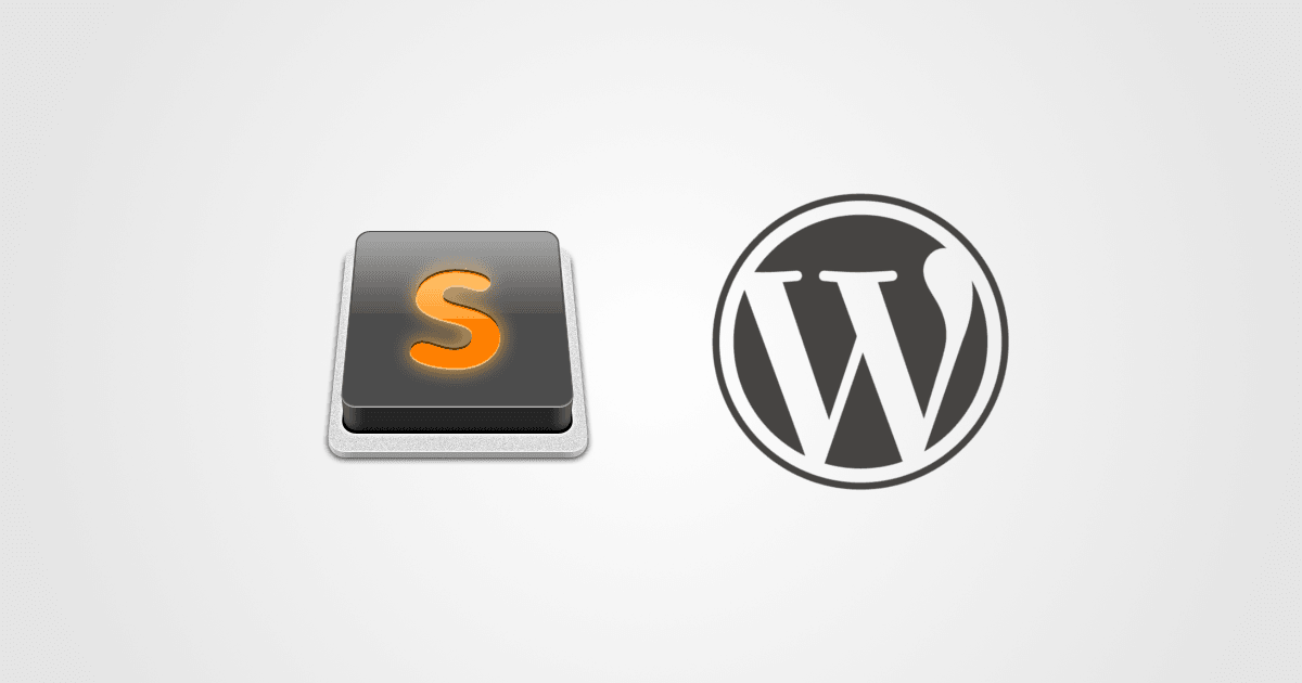 Sublime Text + WordPress