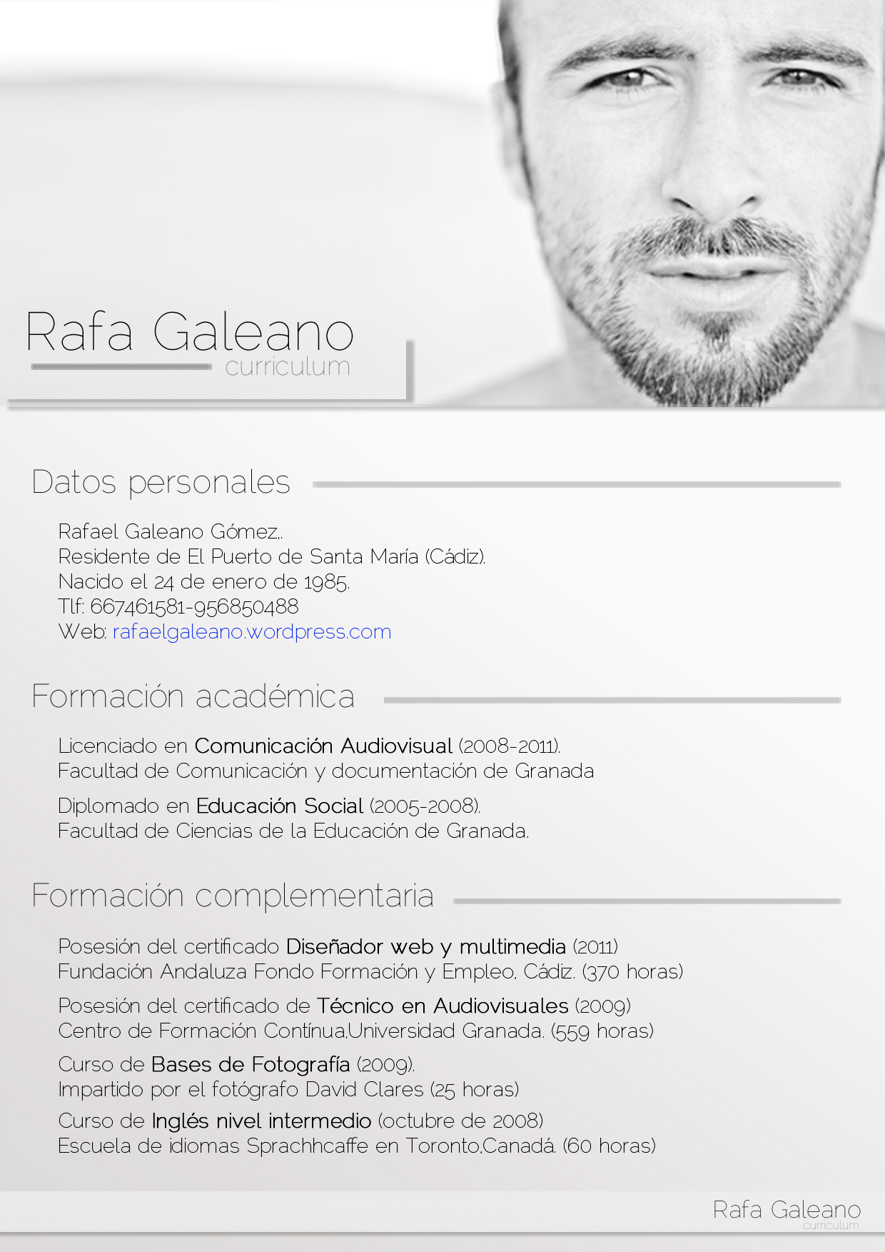 Word 2010 Curriculum Vitae Template Free Cv Cover Letter Templates