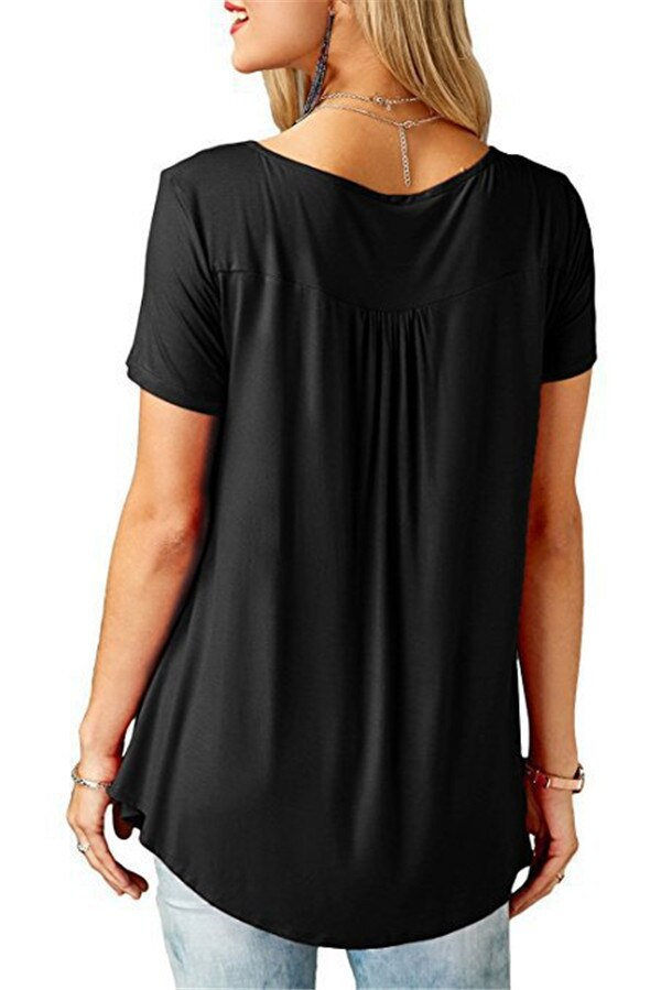 Women's Loose Summer V-Neck T-Shirt