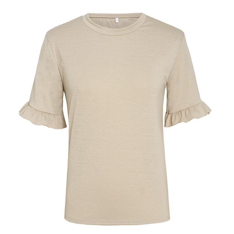 Casual Ruffled Women's T-Shirt in Multiple Sizes