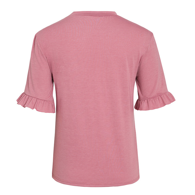 Casual Ruffled Women's T-Shirt in Multiple Sizes