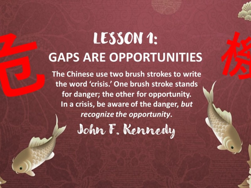 Lesson 1 - Gaps Are Opportunities - Tomorrow's Jobs Today