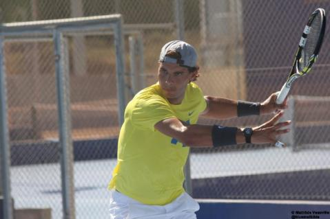 Rafa Hits The Practice Court In Manacor - Rafael Nadal Fans (7)