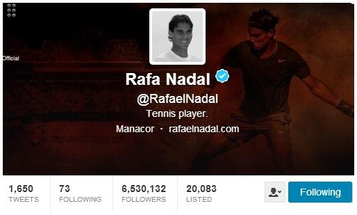 Rafael Nadal Twitter