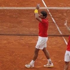 Rafael Nadal and Marc Lopez - Davis Cup - Spain Ukraine (10)
