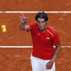 Rafael Nadal and Marc Lopez - Davis Cup - Spain Ukraine (11)