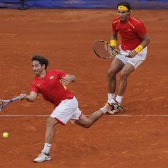 Rafael Nadal and Marc Lopez - Davis Cup - Spain Ukraine (12)