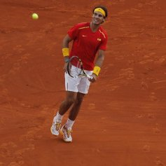 Rafael Nadal and Marc Lopez - Davis Cup - Spain Ukraine (16)