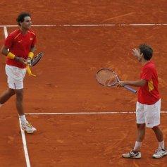 Rafael Nadal and Marc Lopez - Davis Cup - Spain Ukraine (17)