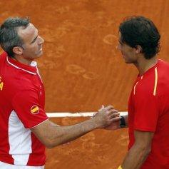 Rafael Nadal and Marc Lopez - Davis Cup - Spain Ukraine (19)
