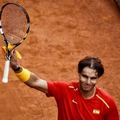 Rafael Nadal and Marc Lopez - Davis Cup - Spain Ukraine (26)