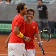 Rafael Nadal and Marc Lopez - Davis Cup - Spain Ukraine (28)