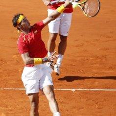 Rafael Nadal and Marc Lopez - Davis Cup - Spain Ukraine (3)