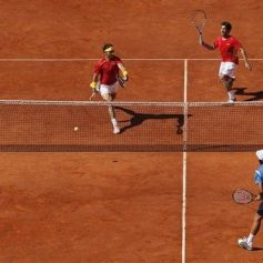 Rafael Nadal and Marc Lopez - Davis Cup - Spain Ukraine (4)