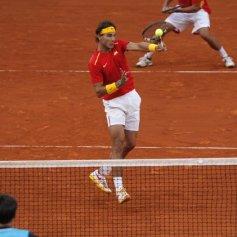 Rafael Nadal and Marc Lopez - Davis Cup - Spain Ukraine (9)