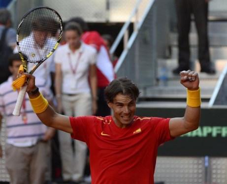 Rafael Nadal beats Sergiy Stakhovsky 60 60 64 Davis Cup (19)
