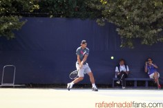 Rafael Nadal practices with Uncle Toni in New York (1)