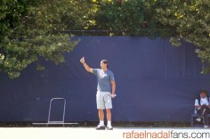 Rafael Nadal practices with Uncle Toni in New York (5)