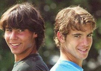 Young boys Rafael Nadal and Richard Gasquet (2)