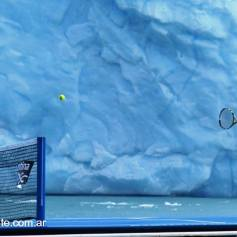 Nadal and Djokovic play tennis Perito Moreno glacier (2)
