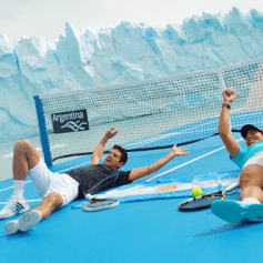 Nadal Djokovic on a boat in Argentina 2013 (2)