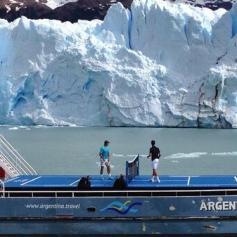 Nadal Djokovic Perito Moreno glacier in Argentina 2013 (2)