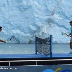 Nadal Djokovic Perito Moreno glacier in Argentina 2013 (9)