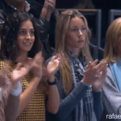 Rafa's girlfriend Maria Francisca Perello sister Isabel Nadal and his mother Ana Maria Perera